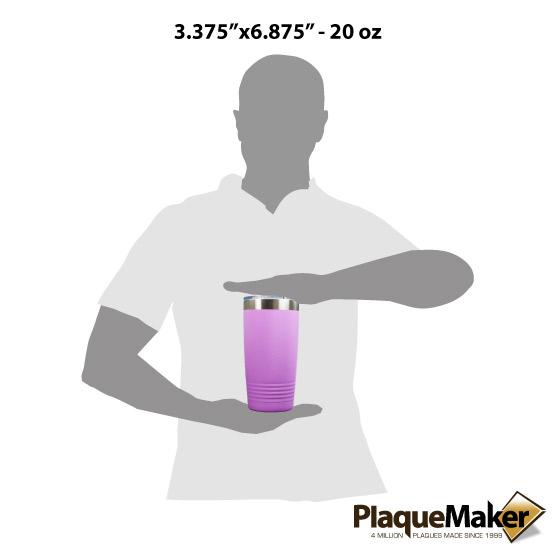 20 oz Light Purple Tumbler Sizes