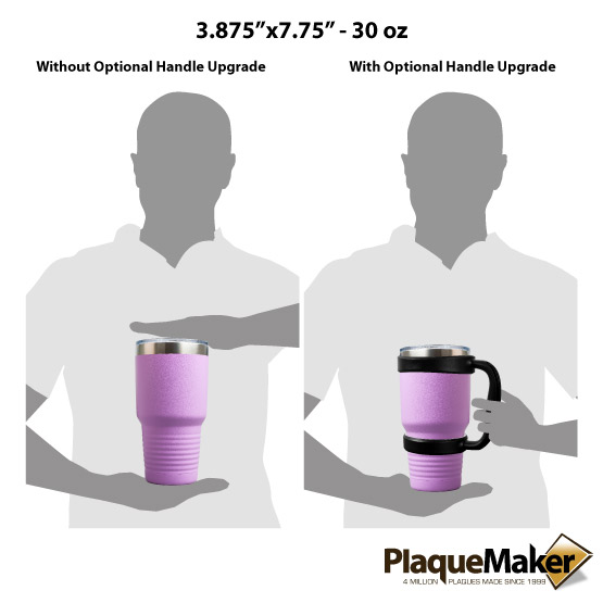 30 oz Light Purple Tumbler Sizes