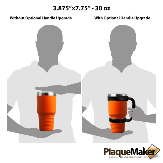 30 oz Orange Tumbler Sizes