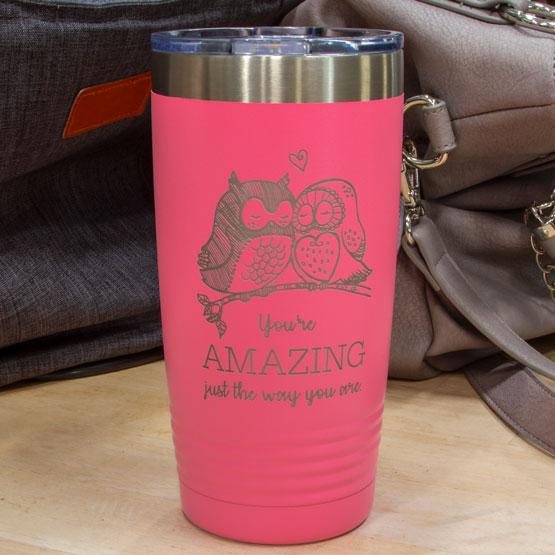 20 oz Pink Tumbler