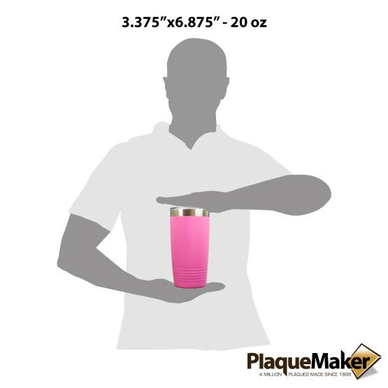 20 oz Pink Tumbler Sizes