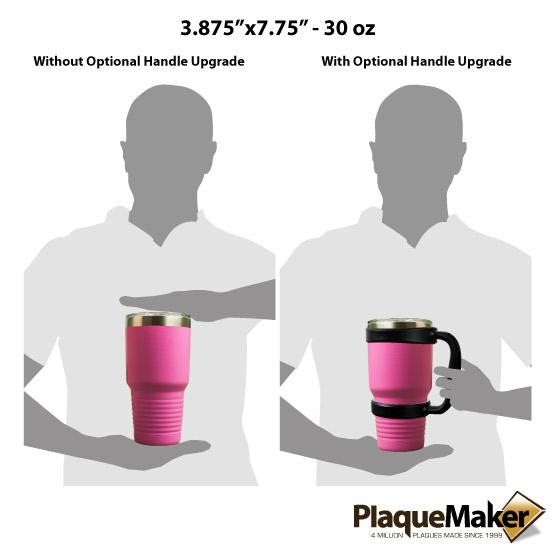 30 oz Pink Tumbler Sizes