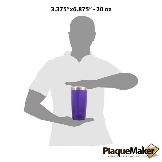 20 oz Purple Tumbler Sizes