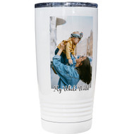 20 oz White Color Printed Tumbler