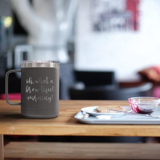 15 oz Dark Gray Tumbler Mug
