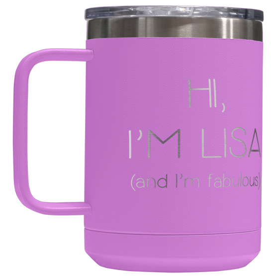 15 oz Light Purple Tumbler Mug