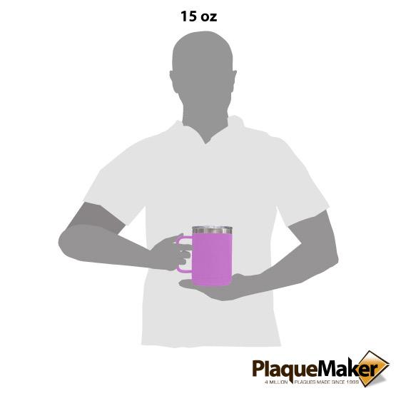 15 oz Light Purple Tumbler Mug Size