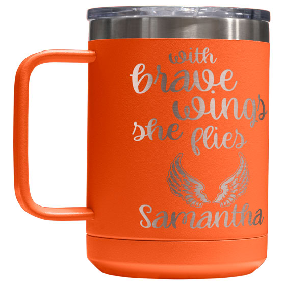 15 oz Orange Tumbler Mug