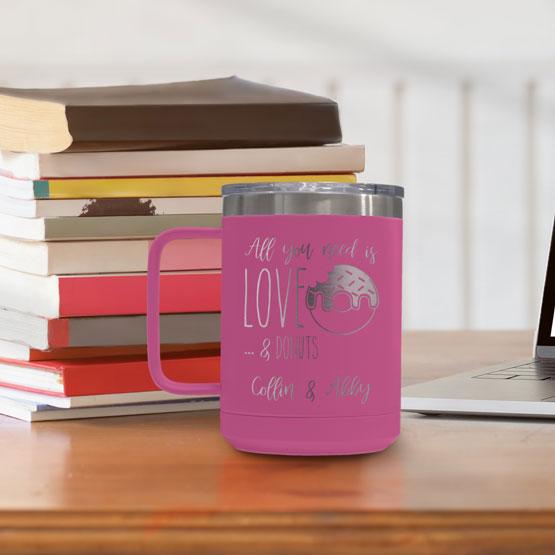 15 oz Pink Tumbler Mug