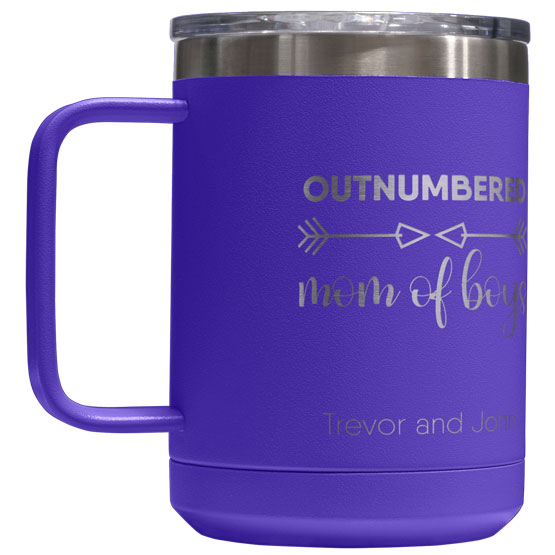 15 oz Purple Tumbler Mug