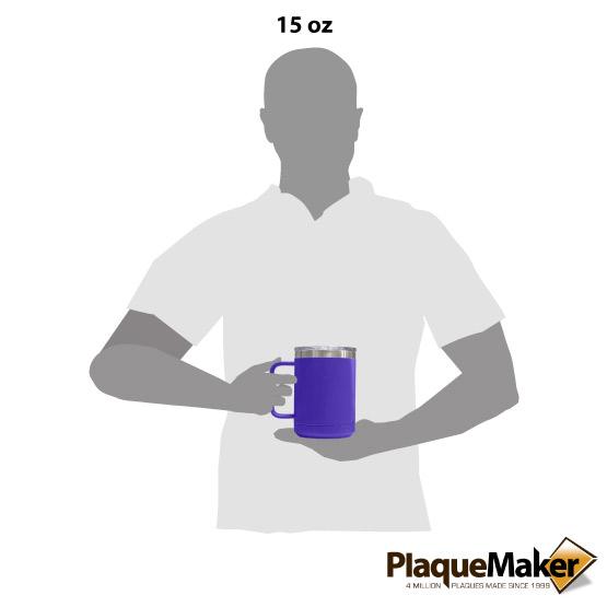 15 oz Purple Tumbler Mug Size