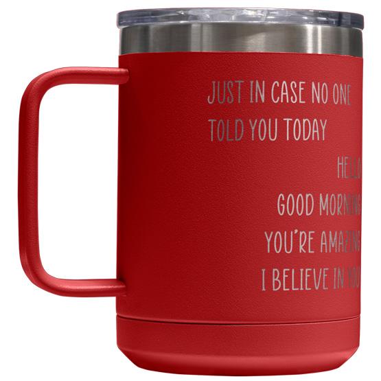 15 oz Red Tumbler Mug