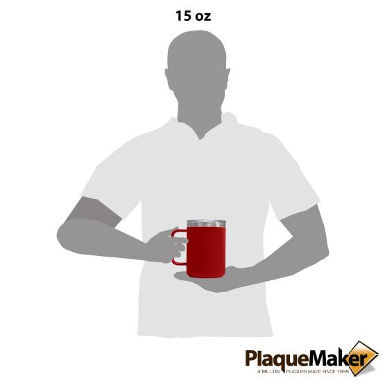 15 oz Red Tumbler Mug Size