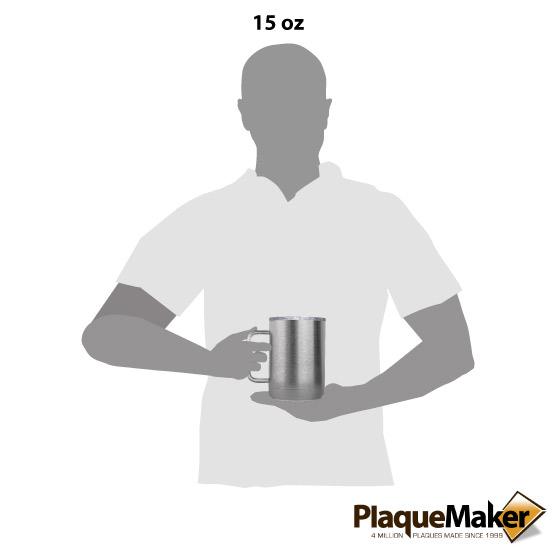 15 oz Stainless Tumbler Mug Size
