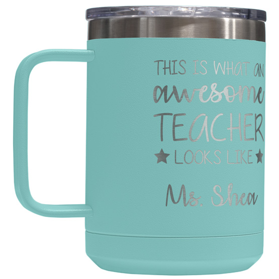 15 oz Teal Tumbler Mug