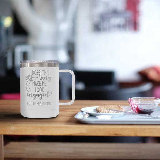 15 oz White Tumbler Mug