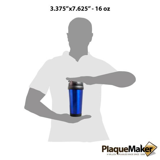 Blue Travel Mug Sizes
