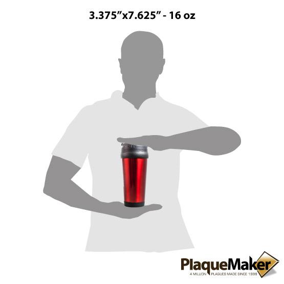 Red Travel Mug Sizes