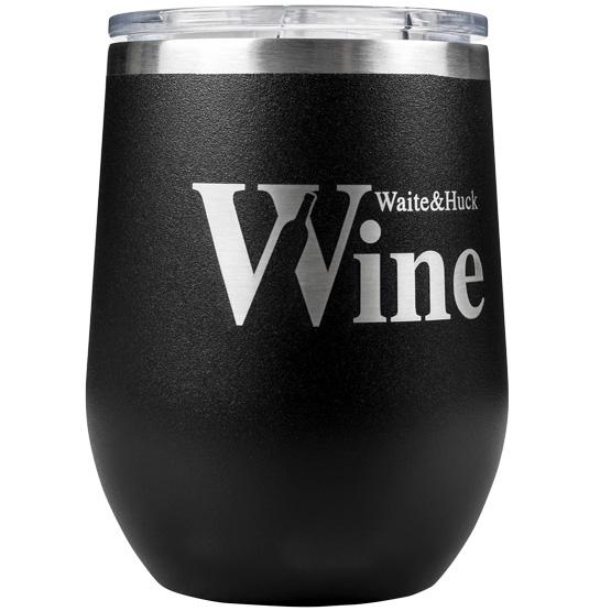 black wine tumbler
