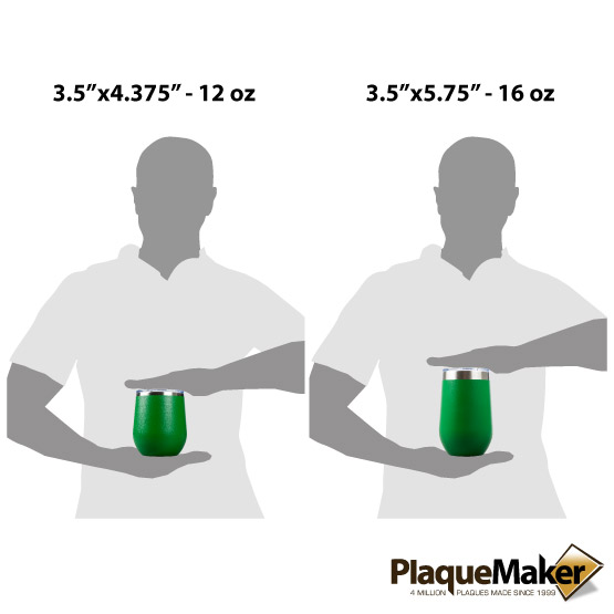 Green Wine Tumbler Sizes