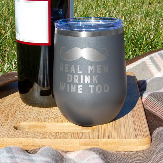 Dark Gray Wine Tumbler