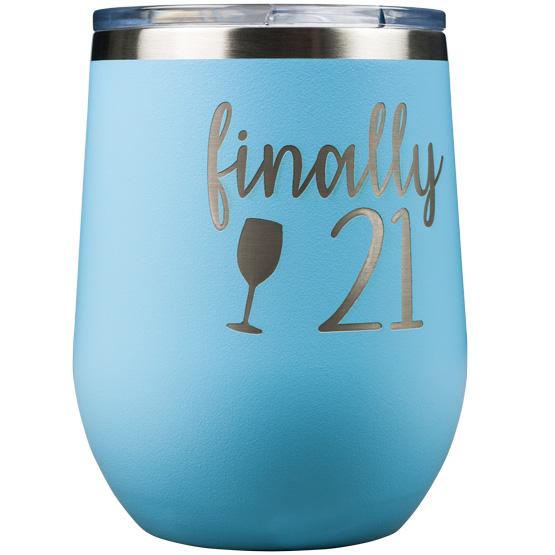 Light Blue Wine Tumblers