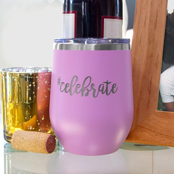 Light Purple Wine Tumbler