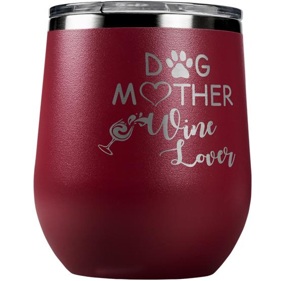 Dog Lover Maroon Tumbler
