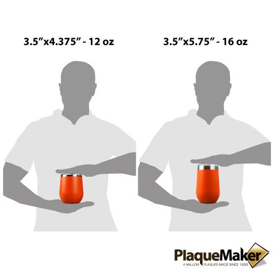Orange Wine Tumbler Sizes