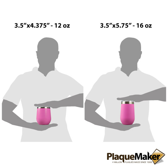 Pink Wine Tumbler Sizes