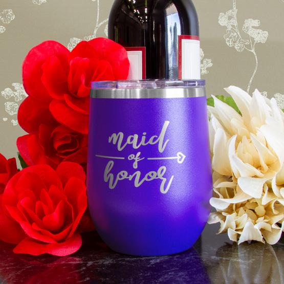 Purple Wine Tumbler