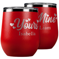 Yours and Mine Wine Tumbler Set