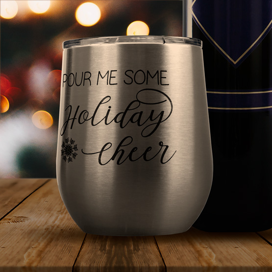 Holiday Cheer Wine Tumbler