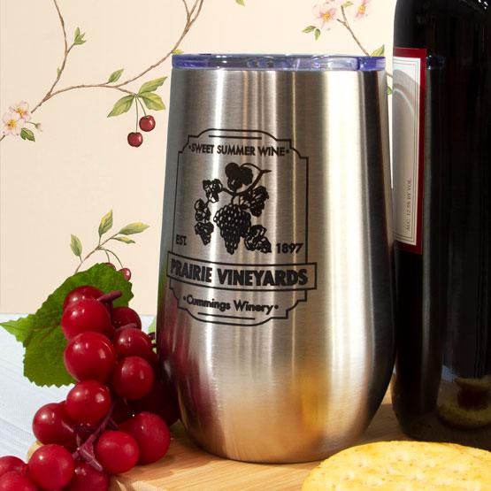 Silver Wine Tumbler
