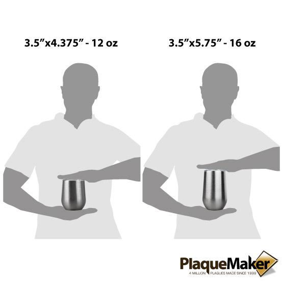 Silver Wine Tumbler Sizes