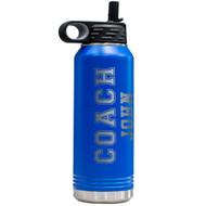 Coach Sport Blue Water Bottle