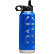 Kid's Name Dad Water Bottle