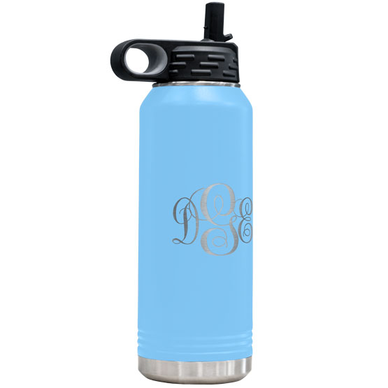 Light Blue Insulated Water Bottle