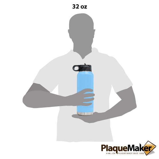 Light Blue Water Bottle Size