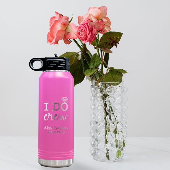 Pink Insulated Water Bottle
