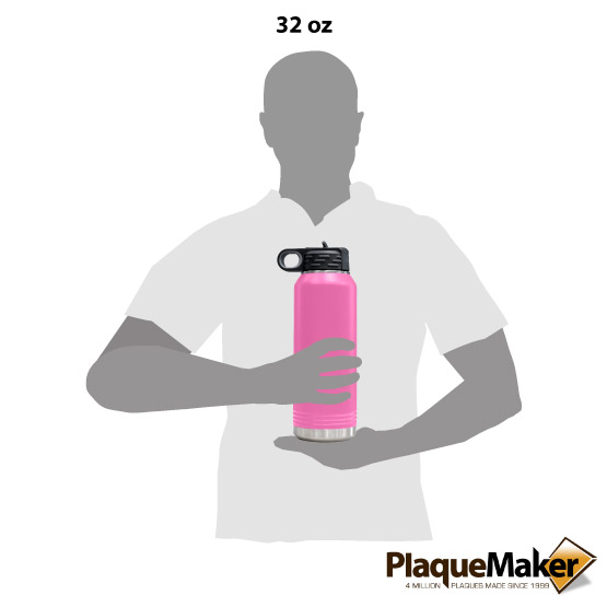 Pink Insulated Water Bottle Size