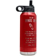Bonus Dad Red Water Bottle