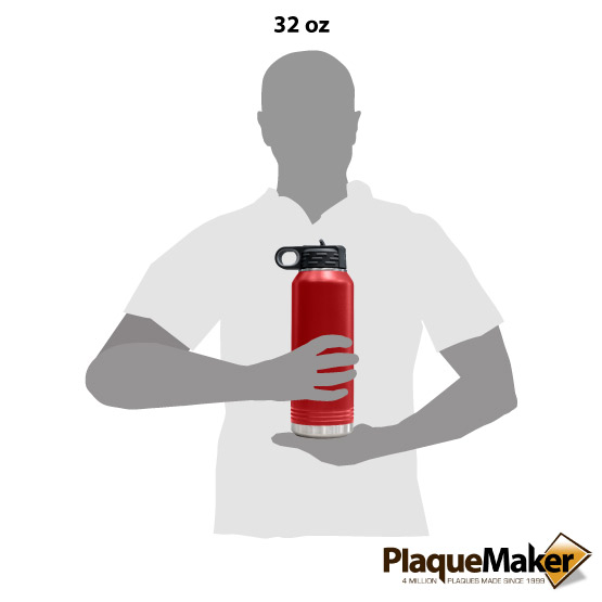 Red Insulated Water Bottle Size