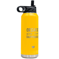 Yellow Insulated Water Bottle