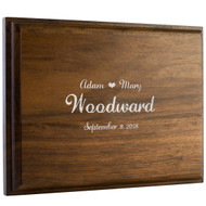 Walnut Wedding Guest Book