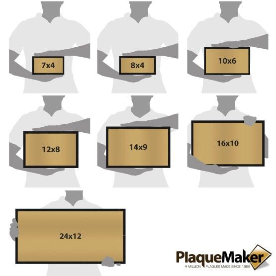 Bronze Headstone Size Guide