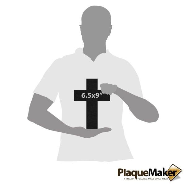Black Granite Memorial Cross Size G
