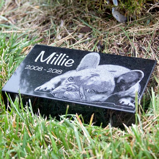 Dog headstone