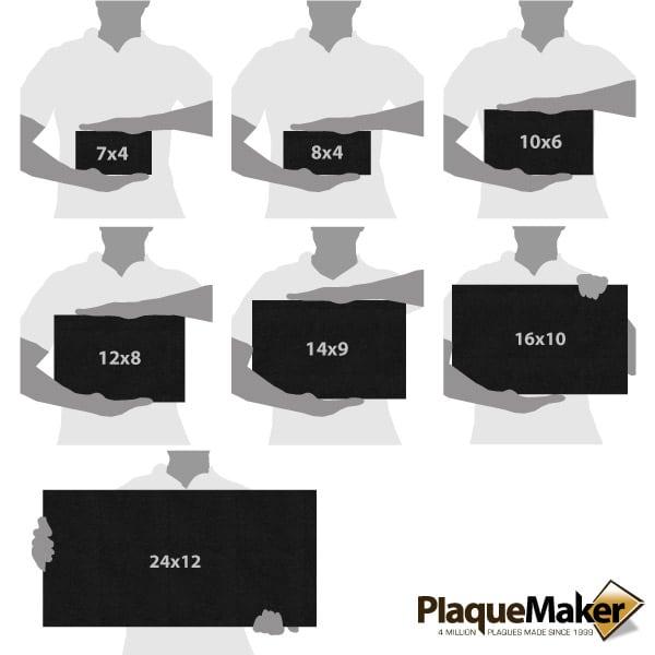 Pet Headstone Size Chart
