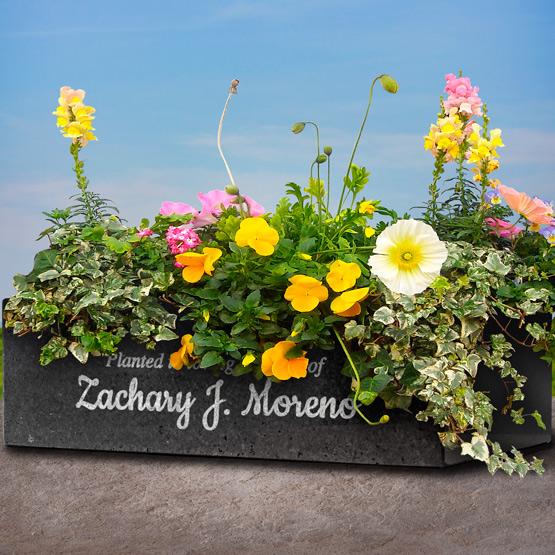 Granite Flower Planter